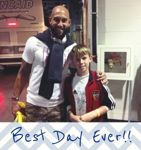 Evan meeting Tim Howard!