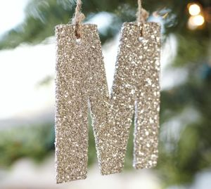 Let's make these glittery initial ornaments!