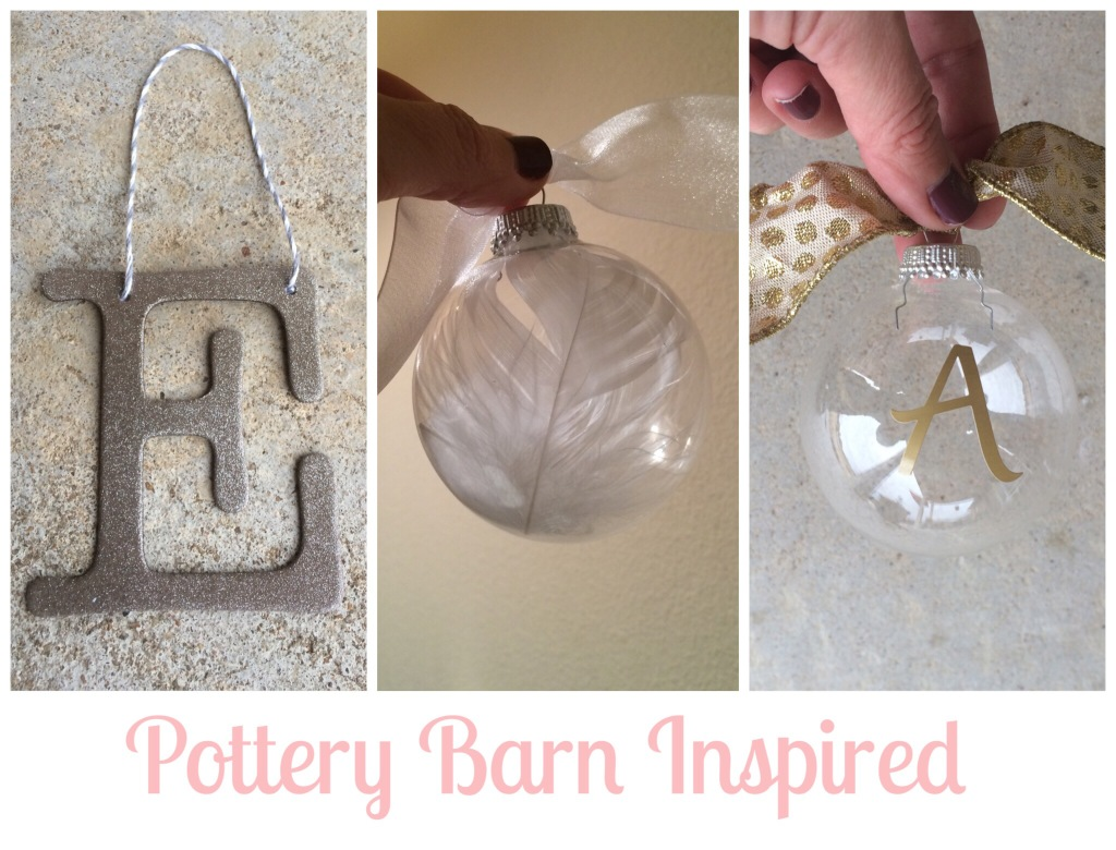 Pottery Barn Inspired Ornaments