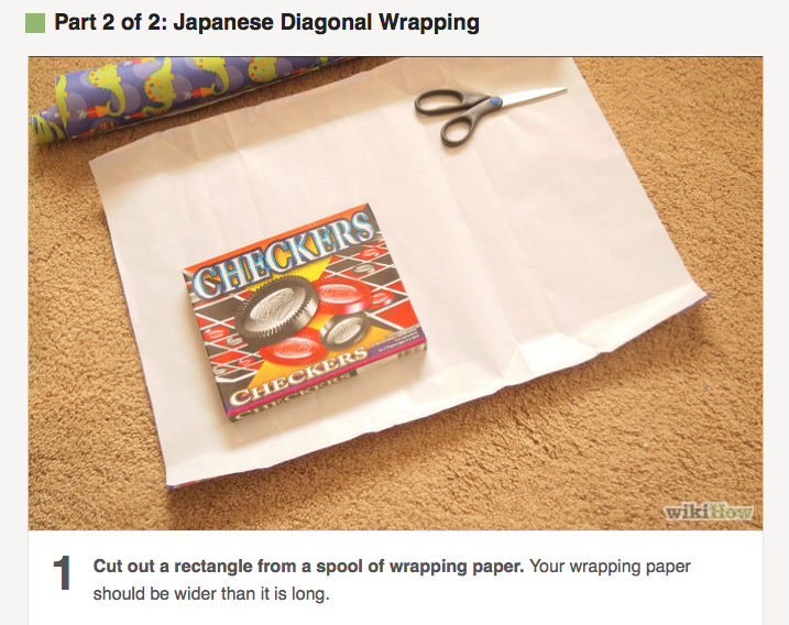 Japanese Diagonal Wrap