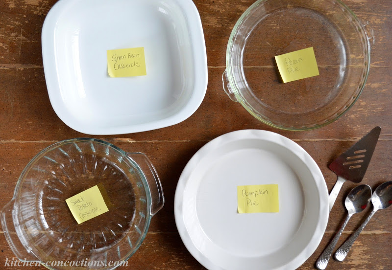 Serving Pieces with Sticky Notes