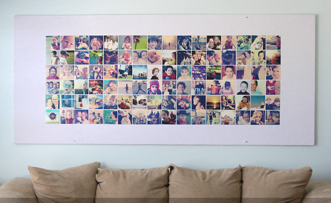 instagram photo bulletin board