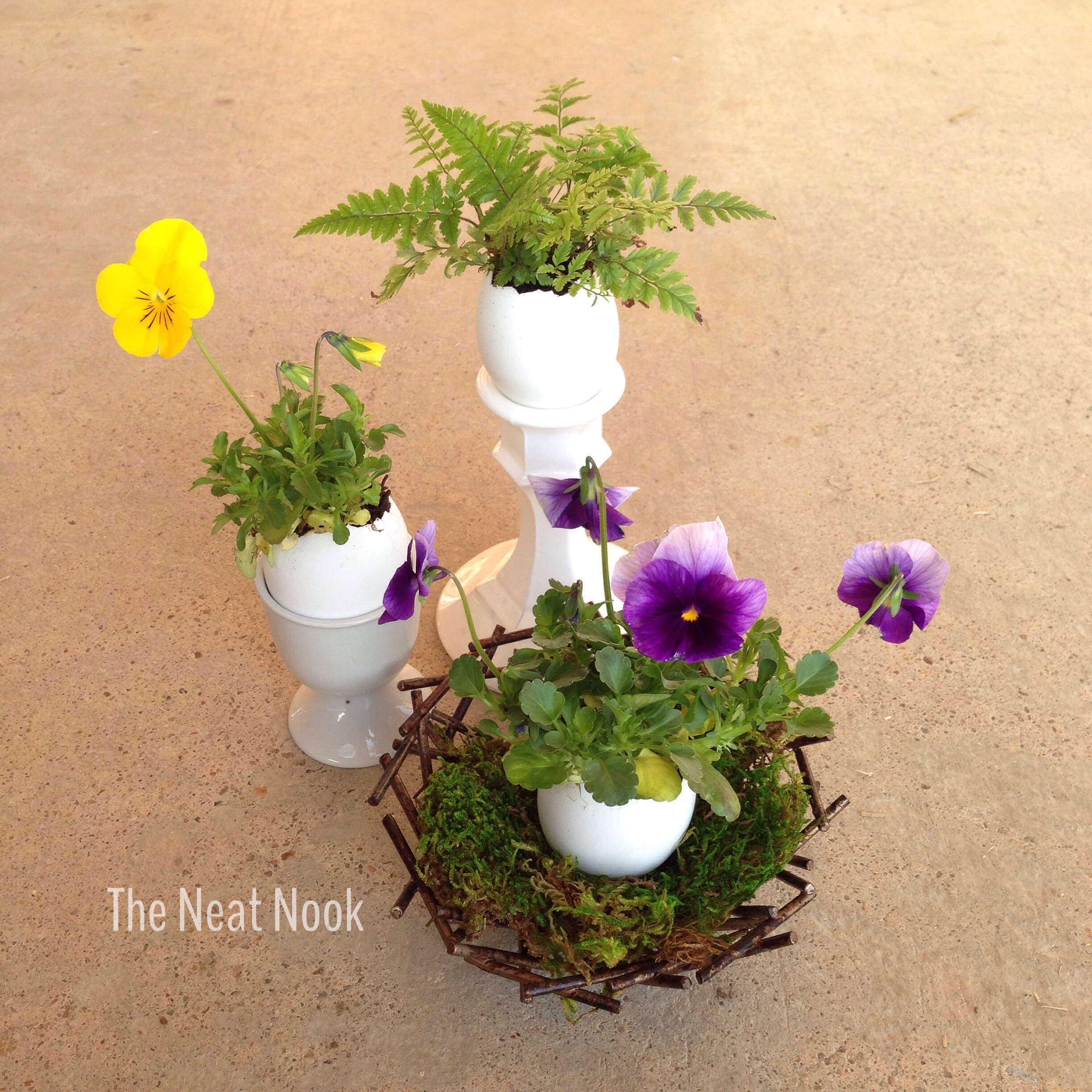 Easy Easter Flower Arrangements - The Neat Nook