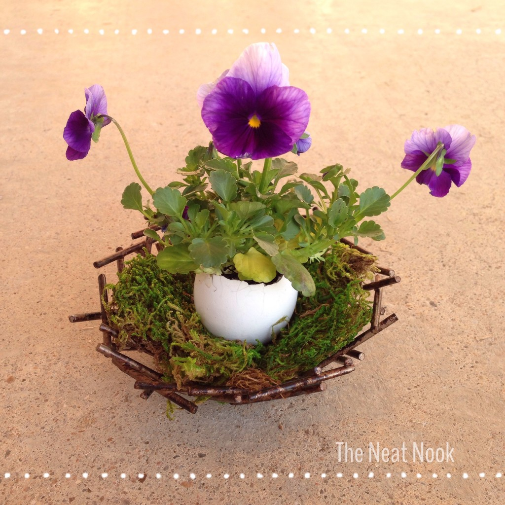 Nest egg Easter flower arrangement