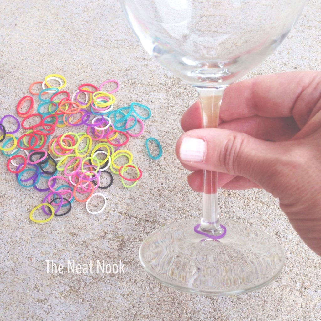 Loom bands as drink markers