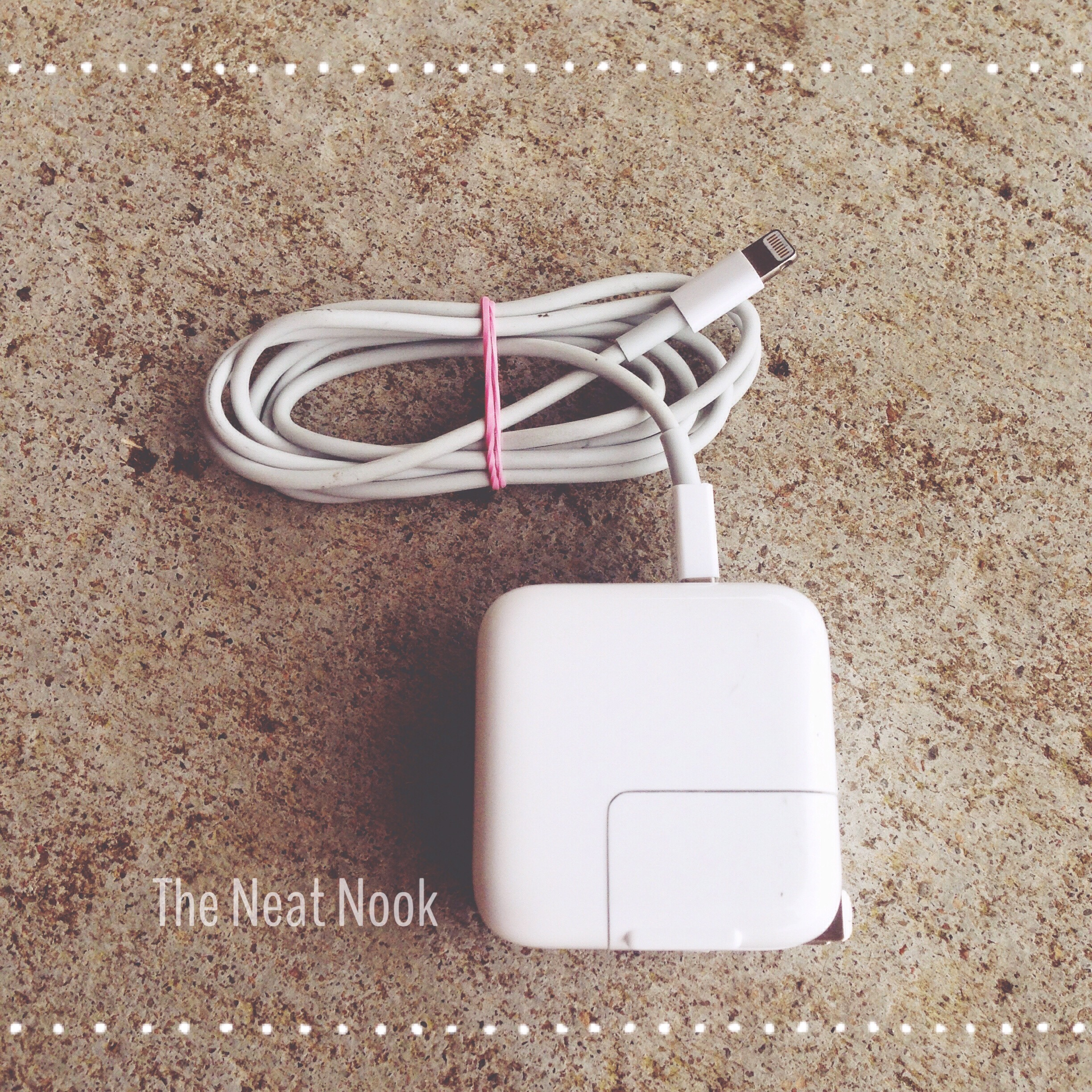 Ideas Archives The Neat Nook Charger Wiring Diagram Loom Bands As Cord Corral