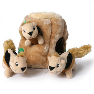 What dog doesn't love a squirrel? This plush toy can be found here for $XX.