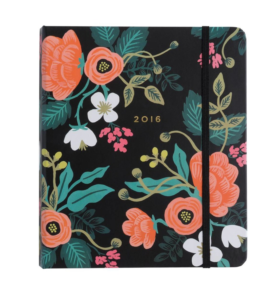 Another personal fan favorite is Rifle Paper Co. This planner is also a 17-monther. Its compact size, but has more room than the one above for daily and weekly planning.
