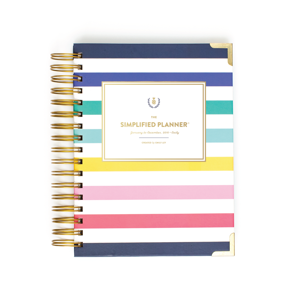 "The Simplified Planner is supposed to be super helpful. I love this ""happy stripe"". It would be a change from last year, but I'm considering."