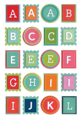 Martha Stewart alphabet stickers