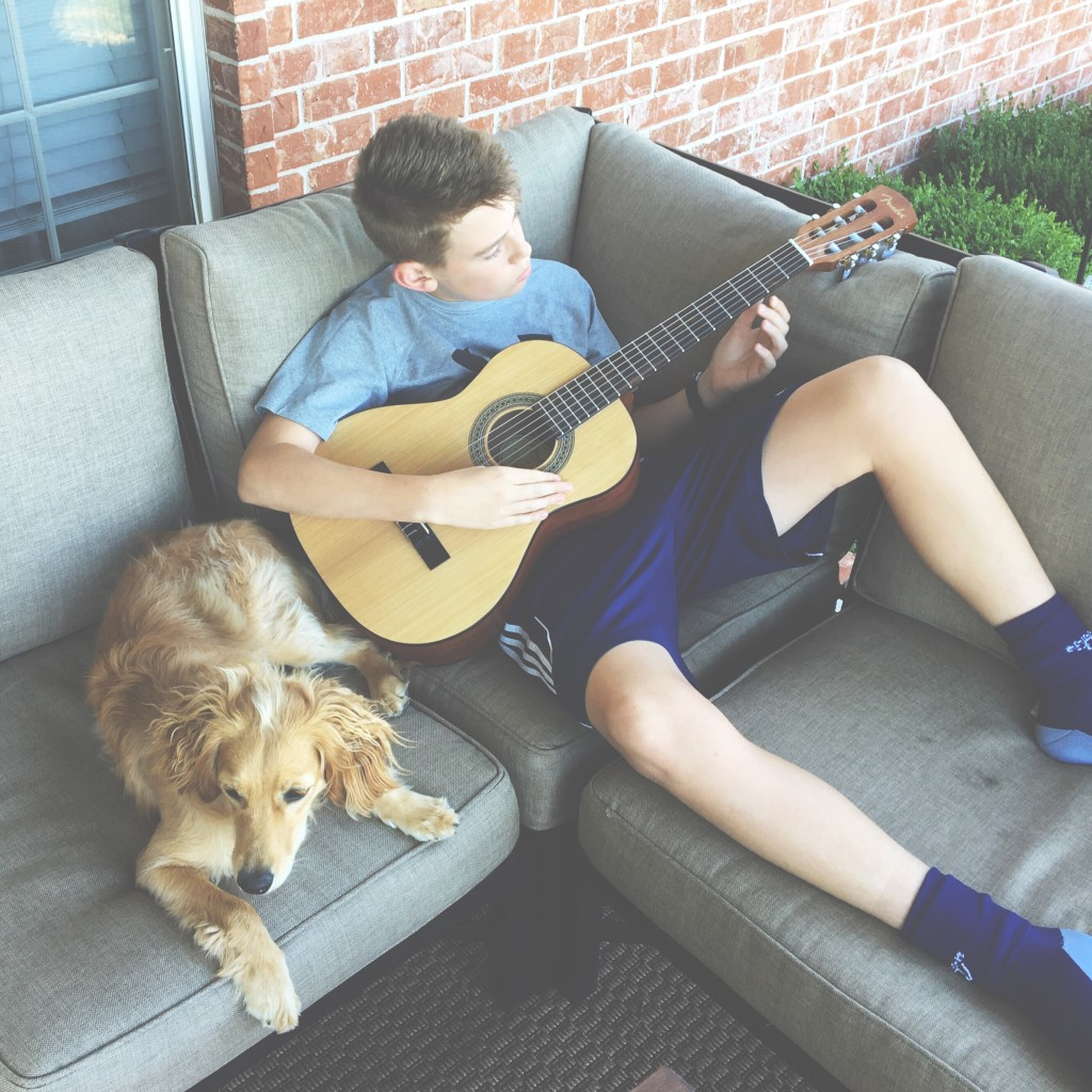 evan and guitar