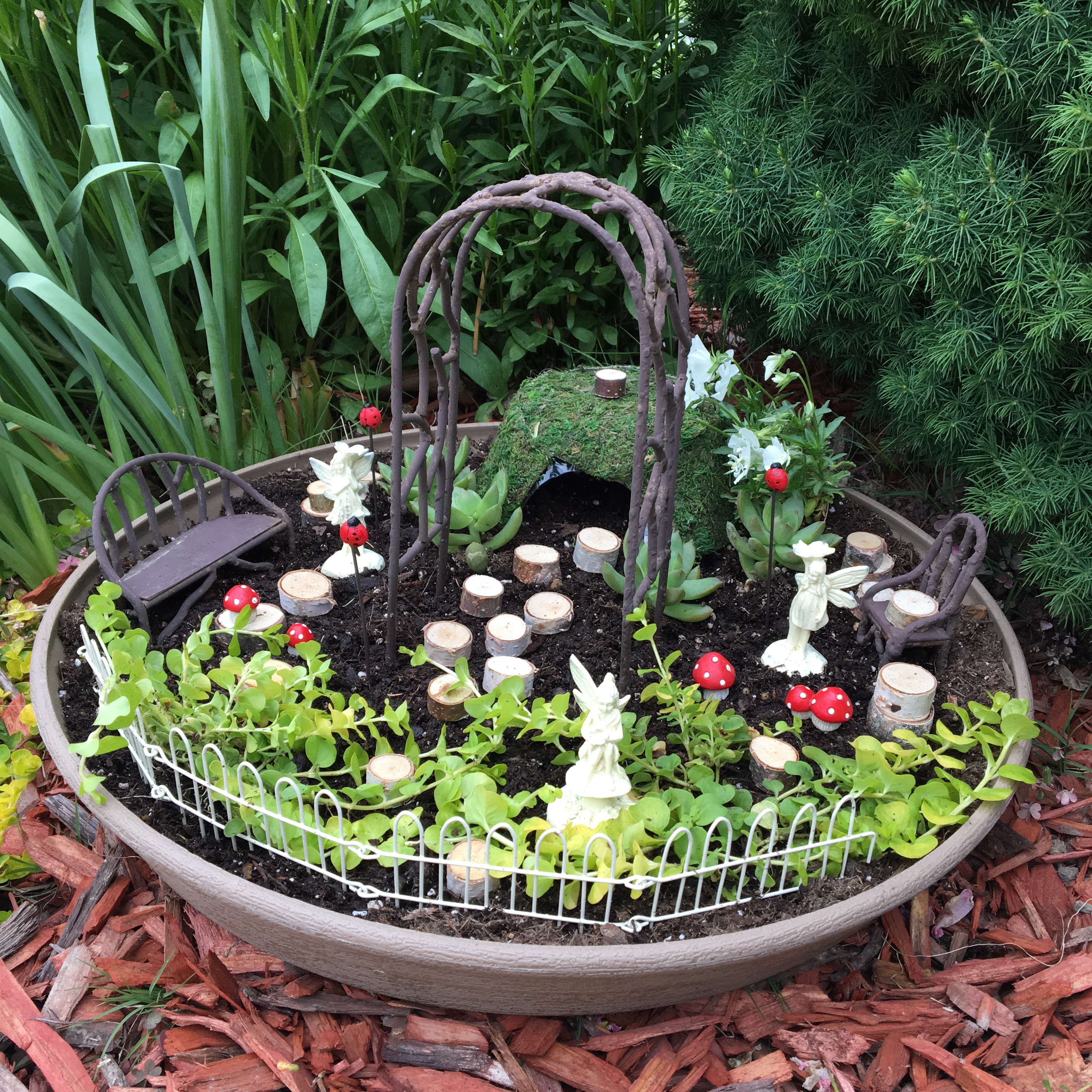 A Front Yard Fairy Garden - The Neat Nook