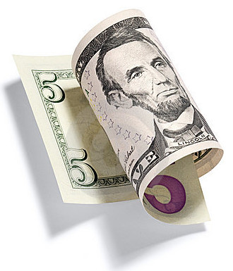 rolled-five-dollar-bill-10506730