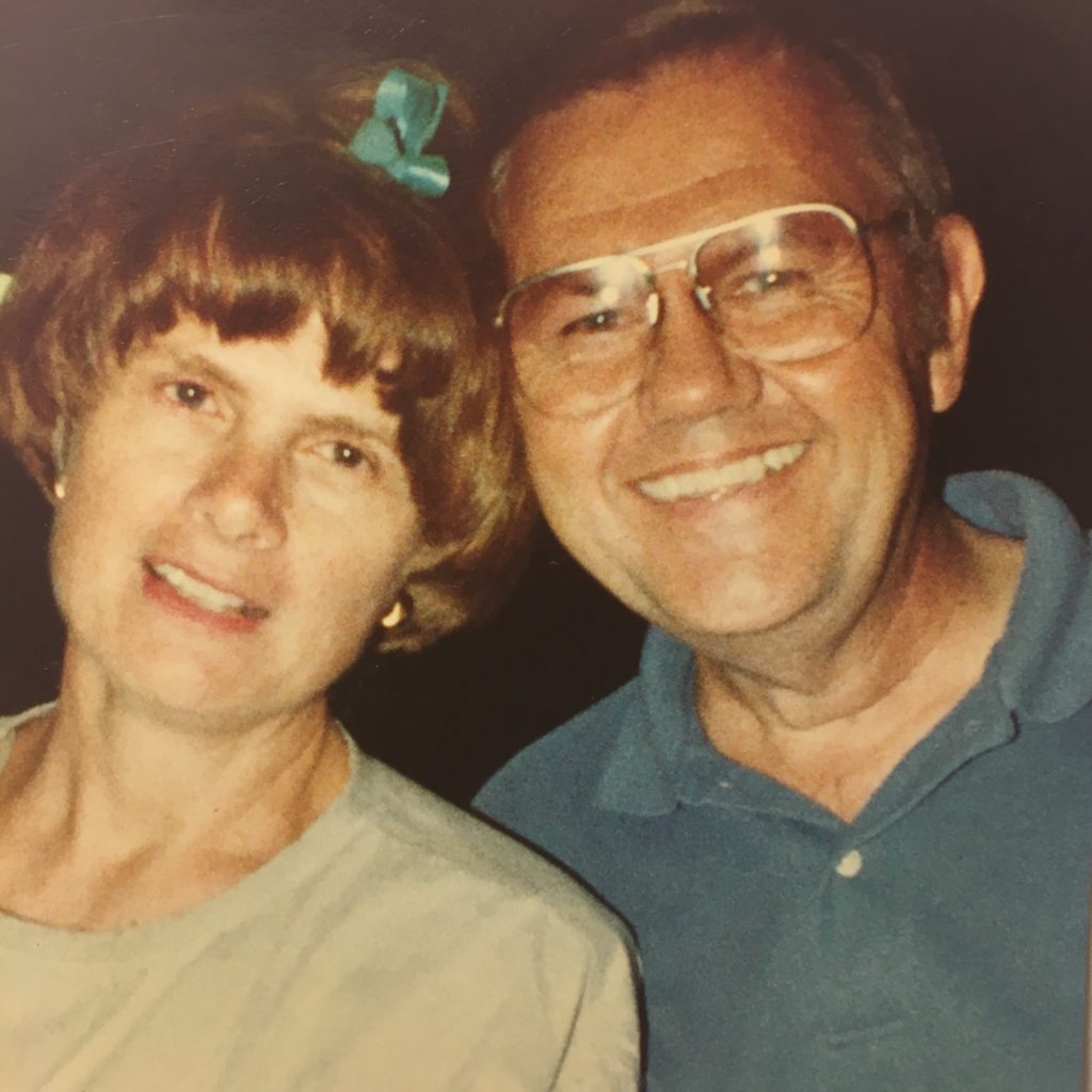 This is one of my favorite pictures of my parents from when I was younger. (Look at the cute bow in my mom's hair!)