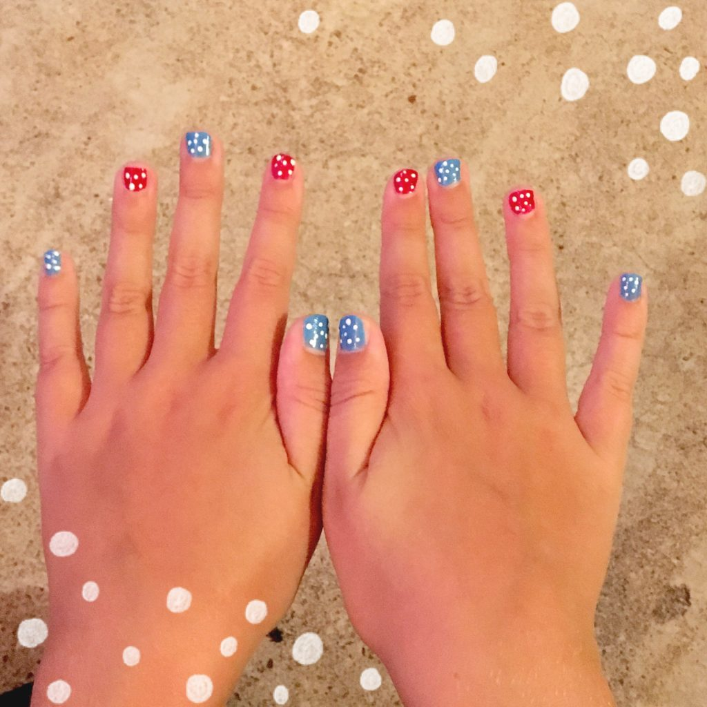 Clara's 4th of July nails