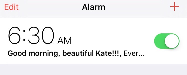alarm motivation