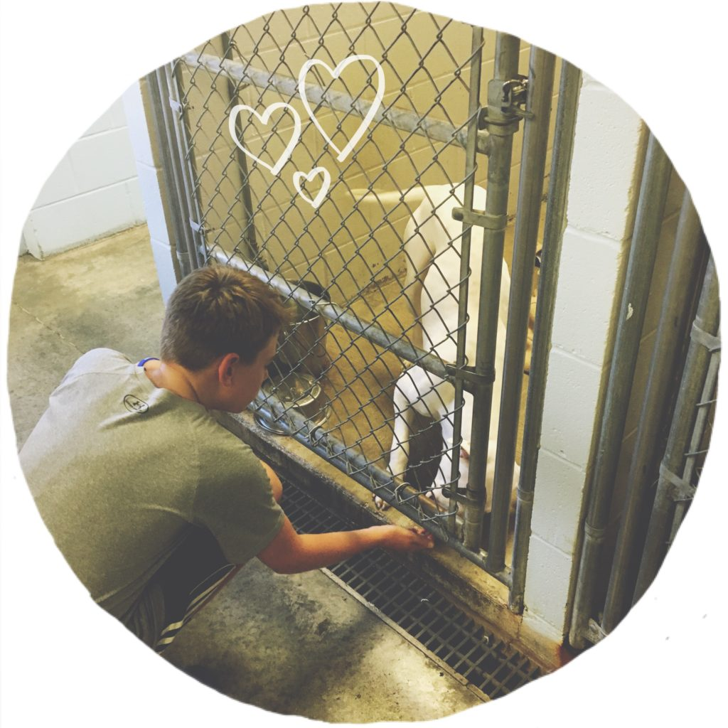 evan with dog