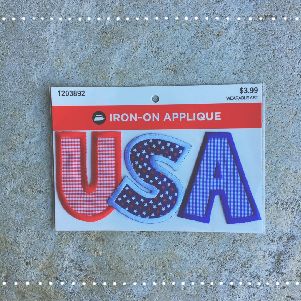 USA iron-on applique