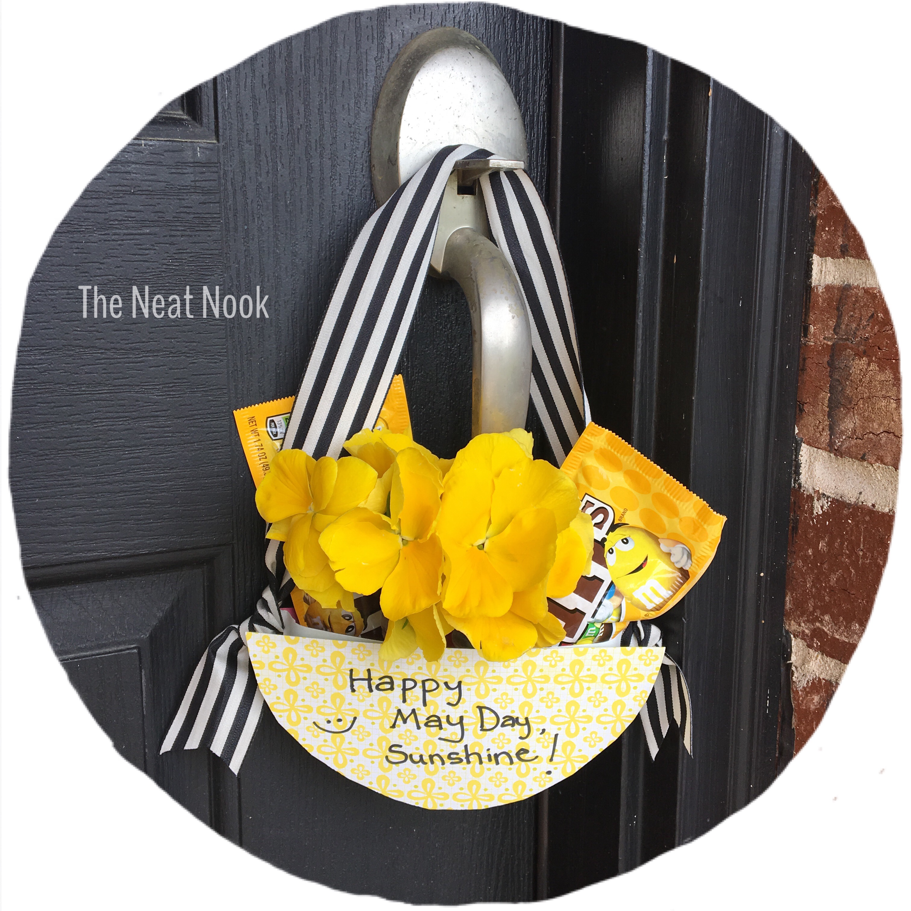 Five ways to make may day baskets the neat nook for the candy lovers in your life this would make a fun may day surprise here are the supplies needed for this bright and sunny basket mightylinksfo