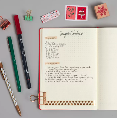 Christmas bullet journal idea